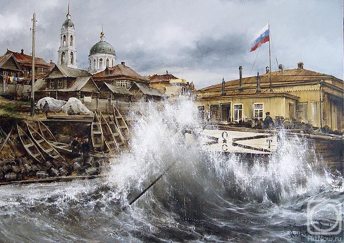Курсеев Вячеслав. Буря на Волге