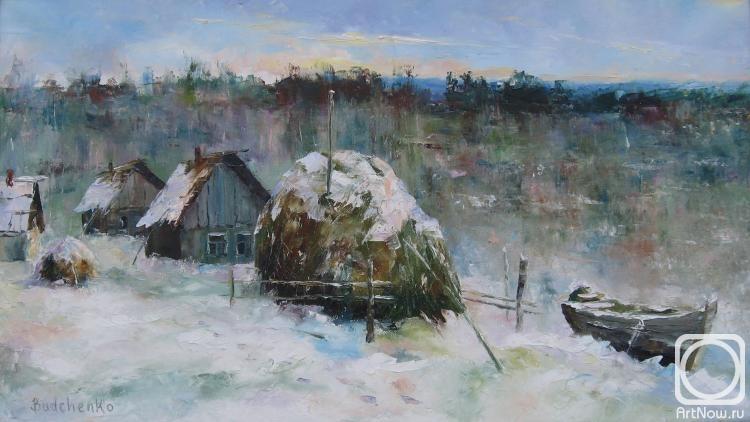 деревня зимой фото