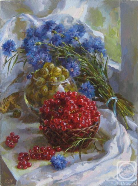 Калиновская Екатерина. Васильки и ягоды