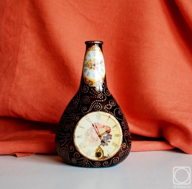 Часы из бутылки мастер класс