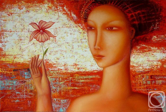 Сулимов Александр. Дама с цветком