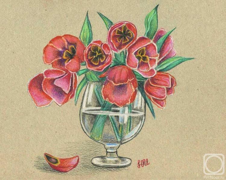 Картинки нарисованные карандашом цветы простые 4