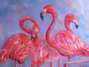 World of flamingov. Krivohizina Nadezda