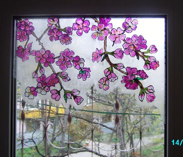 Краски витражные для росписи окон