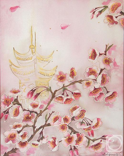 Логинова Светлана. Ветка Цветущей вишни