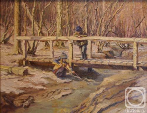 Картины художника весенний пейзаж
