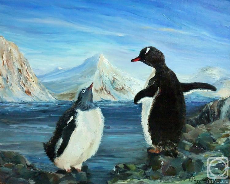 пингвины на картинах художников красив