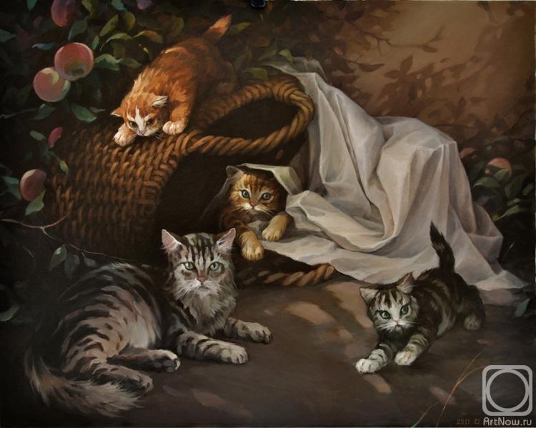 Маколкин Дмитрий. Котята в саду
