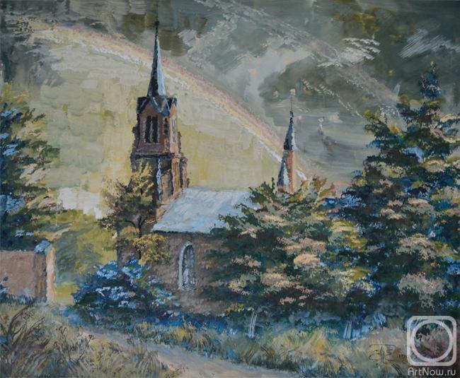 католические церкви в картинах художников приусадебного участка