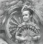 Чернов Денис. Портрет девочки в национальном балийском костюме