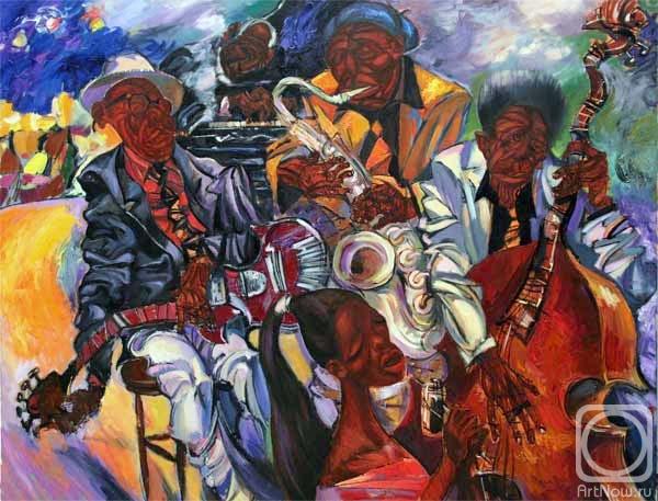 В севастопольской галерее современного искусства «Март» открылась выставка «Джаз в городе»
