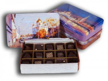 "A set of chocolates. The manufacturer of ""Red October"""