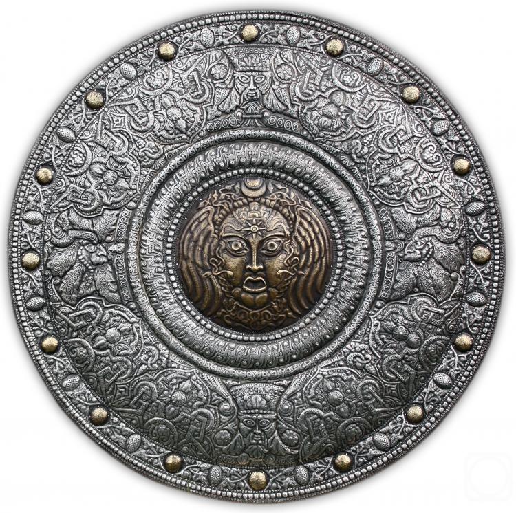 "Victor Morozov.  Shield ""Renaissance. Medusa"""