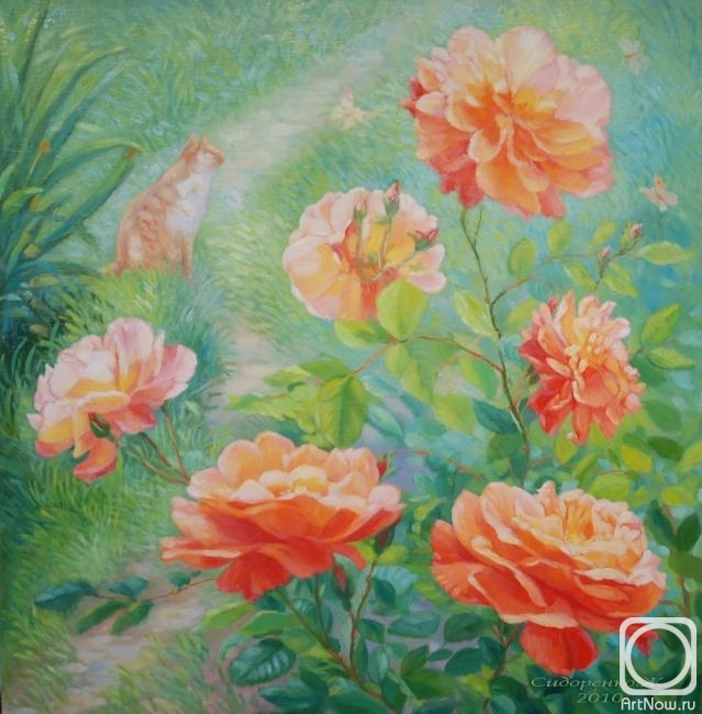 Сидоренко Жанна. Розы в саду