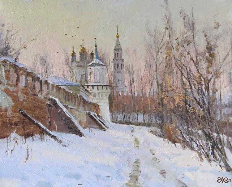 Ефремов Алексей. Верхотурский кремль. Утро