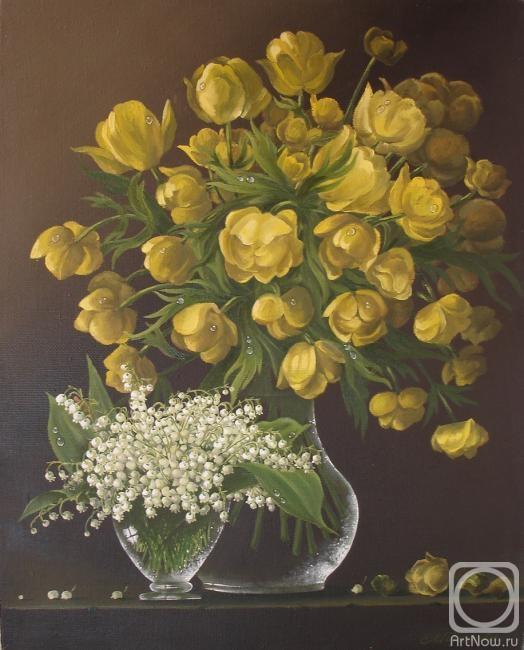 Картины художника весенние цветы