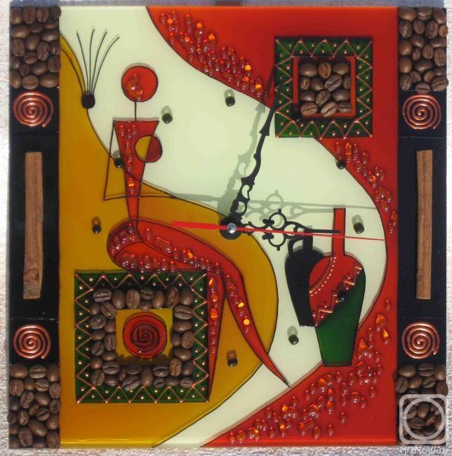 Столярова Лариса. Часы Африканка