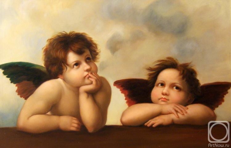 Ангелочки на картинах художников