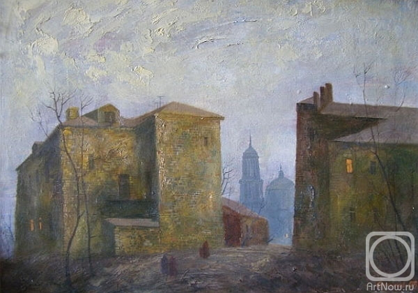 Gerasimov Vladimir. Moscow, the old courtyard of the Taganka