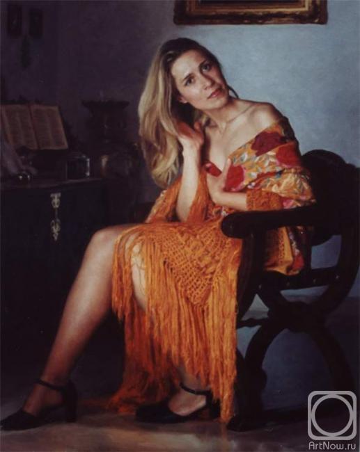 Девушка на кресле картины фото 472-884
