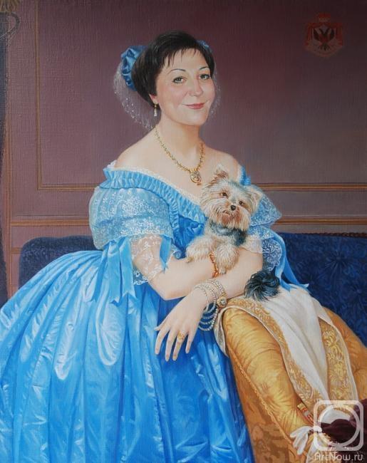 Картины художника портрет дамы в