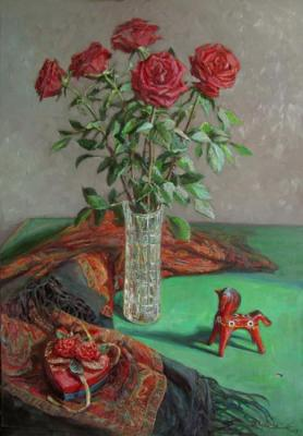 Still-life with red roses. Loukianov Victor