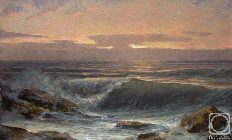 Картины художника вечернее море