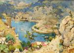 Balaklava. View of the bay, or Prospect Artists. Lukash Anatoliy