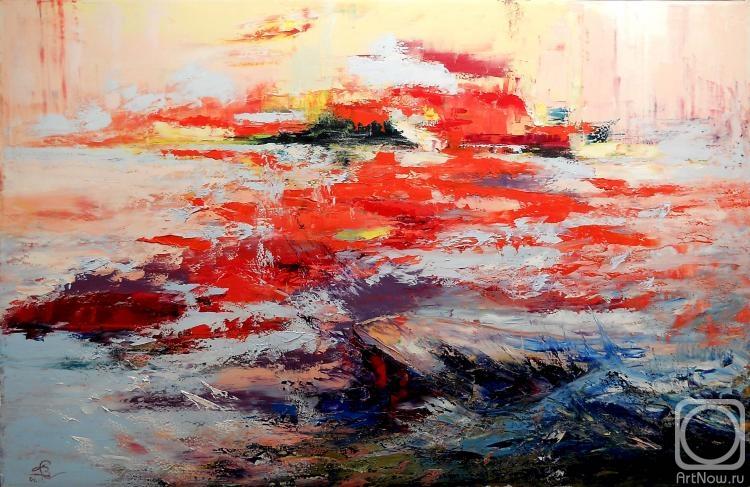 Картины художника закат на море