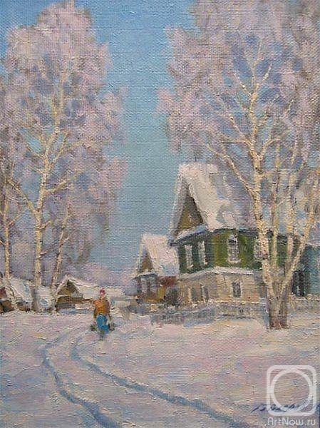 Картины художника зимой в деревне