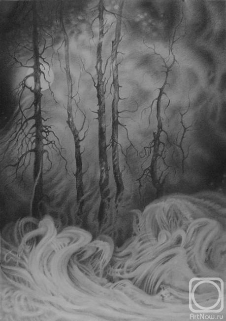 картина лесной пожар:
