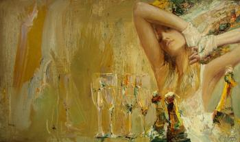 Ice and champagne (Female Portraits). Pavlov Mstislav