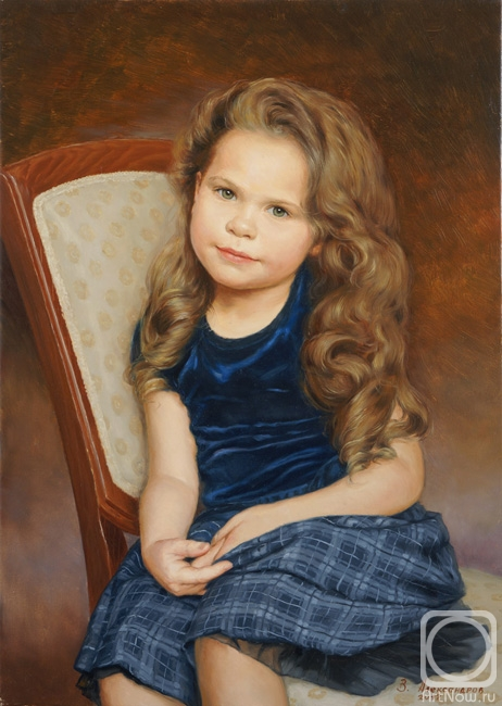 Александров Владимир. Портрет девочки в синем платье
