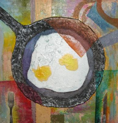 Fried eggs. Akanaev Timur