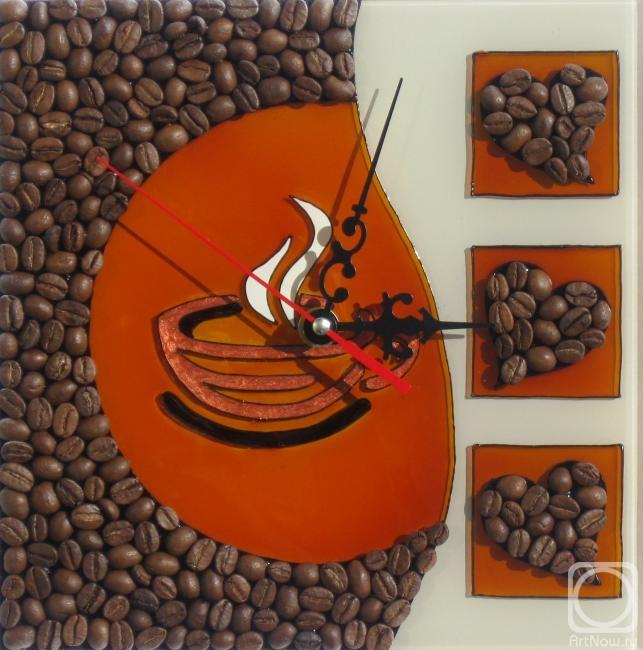 """Столярова Лариса. Часы мини """"Утренний кофе"""""""