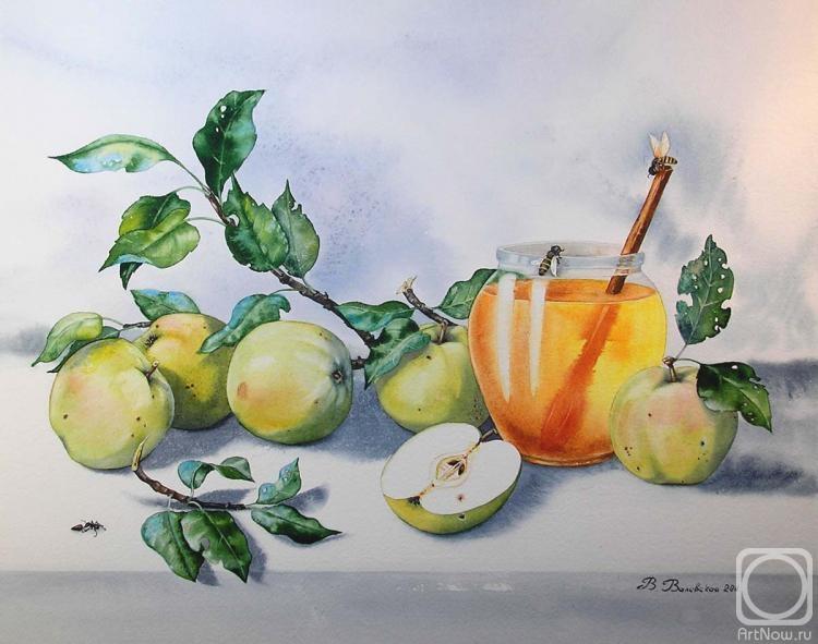 Valevskaya Valentina. Juicy apples and honey.