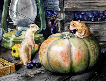 Ground squirrel and Hamster. Valevskaya Valentina