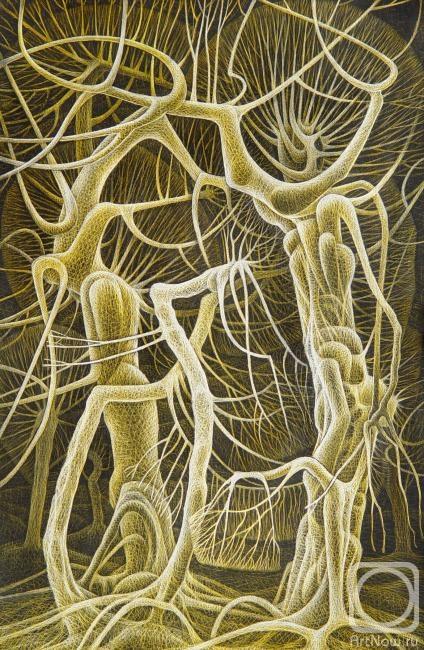 Картина. Жупан Иван. Деревья-люди. Семья
