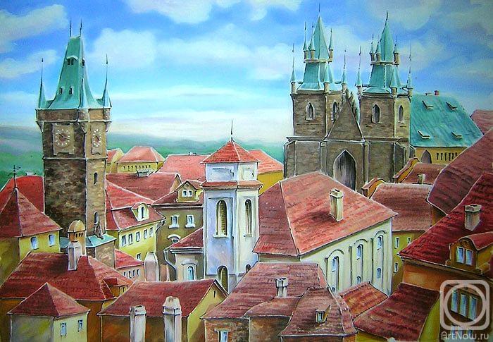 Столярова Лариса. Прага. Крыши.