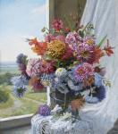 Цветы на фоне окна. Панов Эдуард