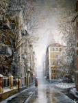 Стародубов Александр. Гагаринский переулок. Первый снег