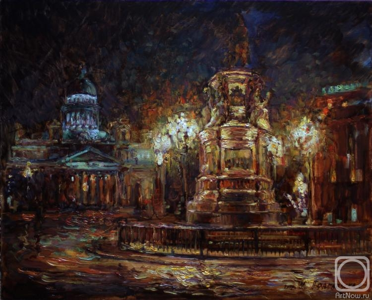 Podgaevskaya Marina. St. Isaac's Cathedral. night