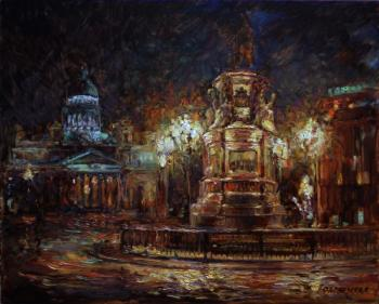 St. Isaac's Cathedral. night. Podgaevskaya Marina