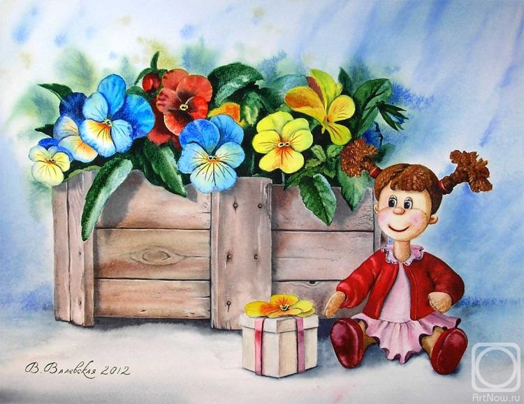 Valevskaya Valentina. A doll with a gift
