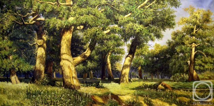 картины маслом лес: