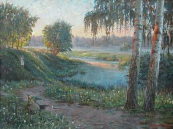 Loukianov Victor. Summery Evening near Moscow