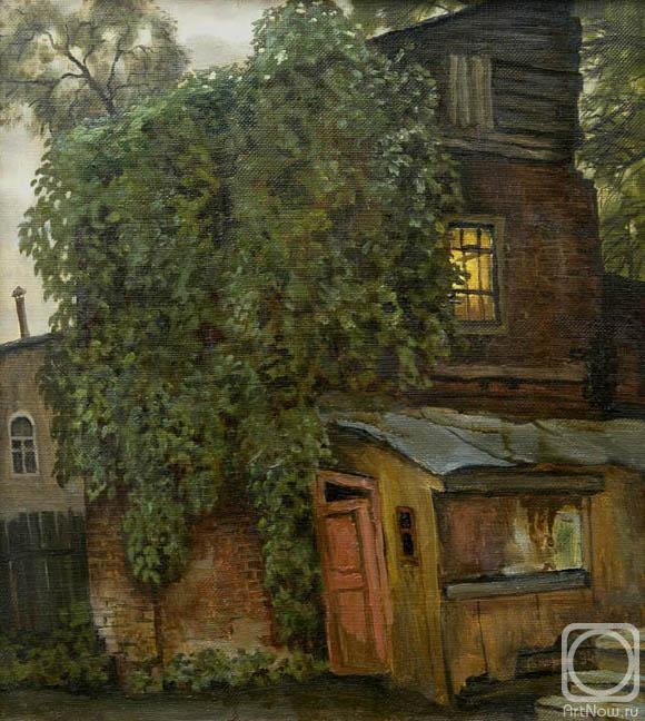 Paroshin Vladimir. A house covered by ivy
