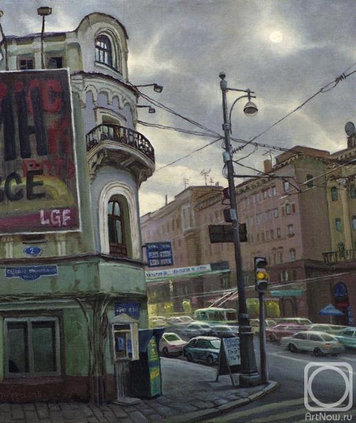 9180dc6ae09 Картина маслом на холсте «По Тверской» — купить в интернет-магазине ...