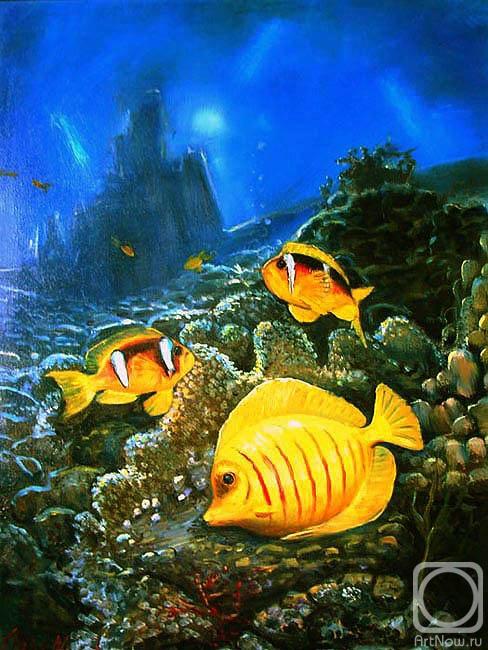 Картины художника подводный мир