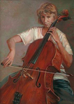 Cellist Olga (etude)